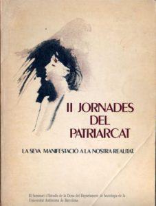 portada del libro de actas de las II jornadas del patriarcado