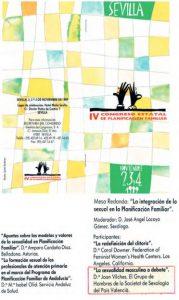 Cartel del IV Congreso Estatal de Planificación Familiar