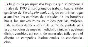 Captura de la página 7 en la que se hace referencia al programa de trabajo con varones propuesto a la administración extremeña