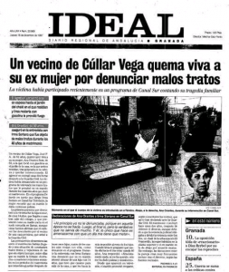 Captura de la portada de ideal de granada del 18.12.1997