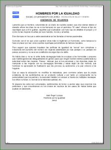 Captura de la nota de prensa