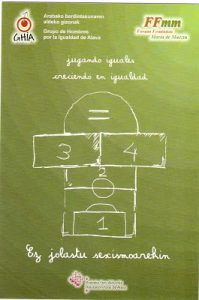 cartel juguetes por la igualdad