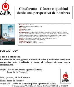 cartel cineforum del GHIA