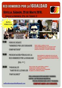 cartel de la presentación de la red de hombres por la igualdad