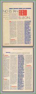Captura de las dos páginas del artículo