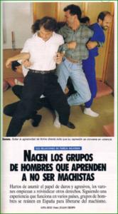 """Captura de pantalla del reportaje de Tiempo sobre """"nacen los grupos de hombres que aprenden a no ser machistas"""