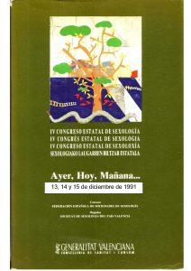 """Cartel del IV Congreso Estatal de Sexología """"Ayer, Hoy, Mañana,..."""""""