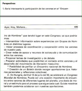 Captura con esquema para el encuentro de hombres en el IV congreso de sexología de 1991 en valencia