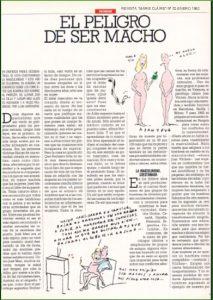 Captura del artículo El peligro de ser macho