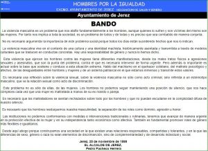 Captura de pantalla del bando de la alcaldía de Jerez de la Frontera