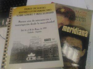 Portada de las actas del primer encuentro hispano-latinoamericano sobre género y masculinidad