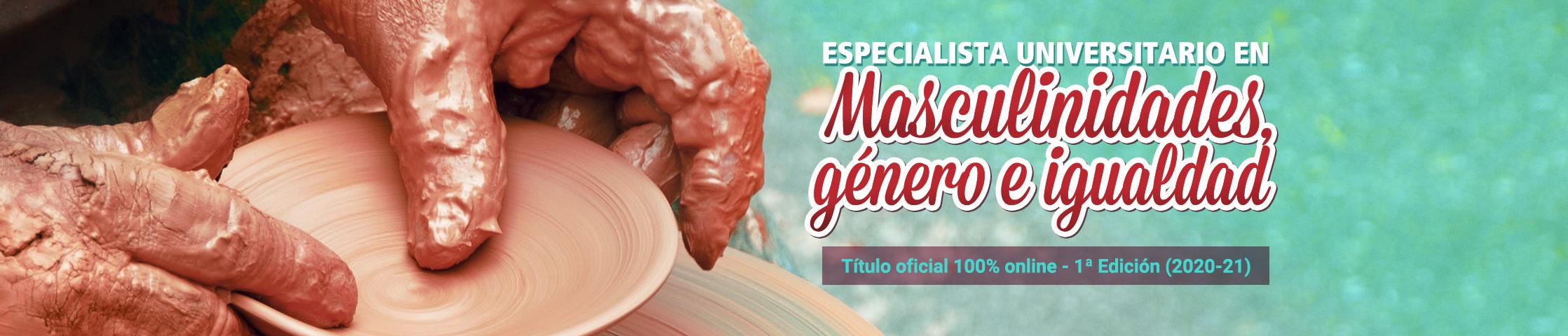 Cartel promocional del Título especialista univ. en masculinidades