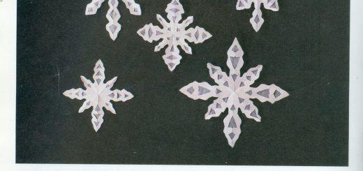 Manualidades copos de nieve para tus ventanas o para los muebles