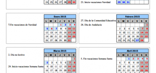 calendario escolar sevilla 2014/2015