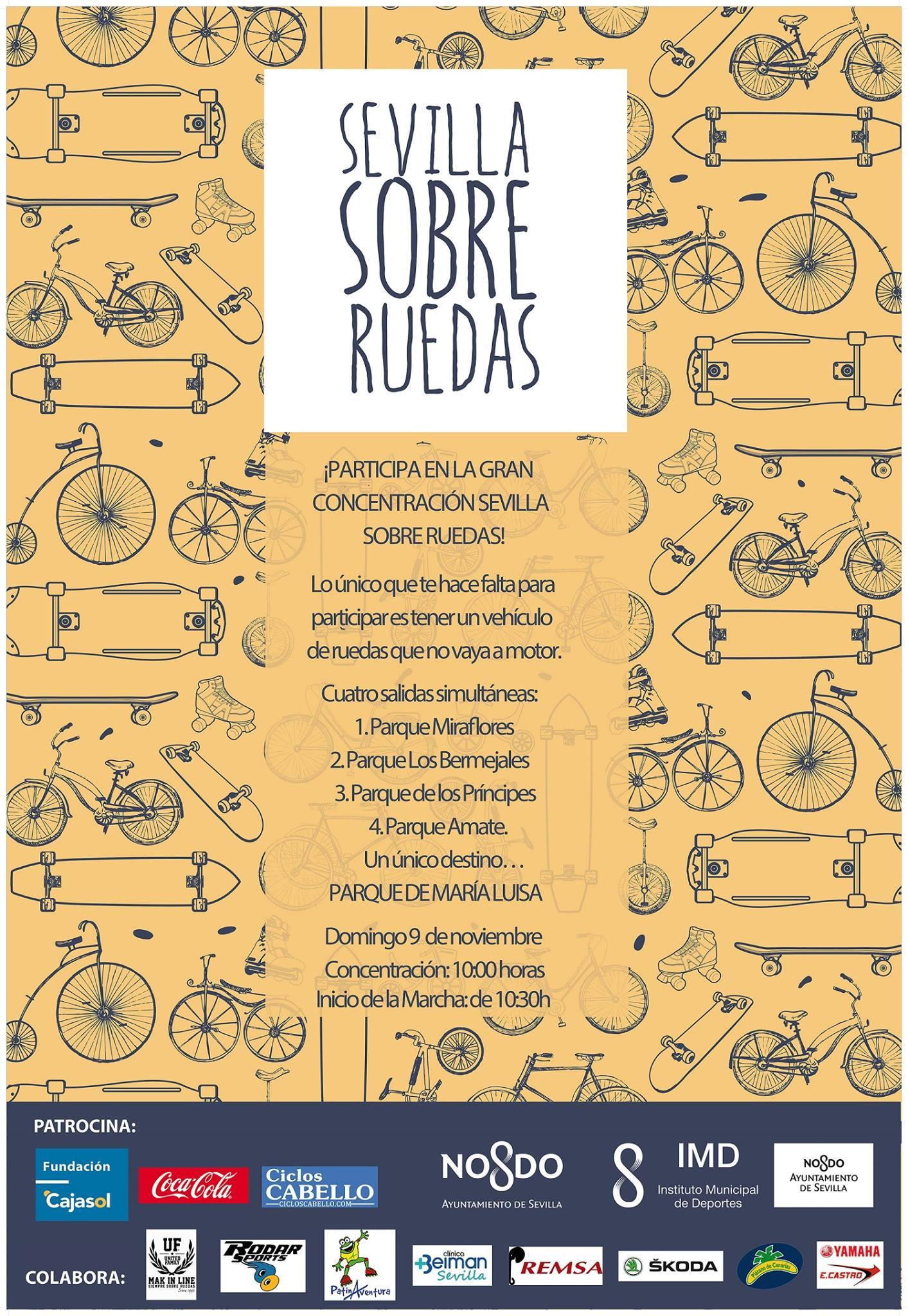 Cartel de Sevilla sobre Ruedas