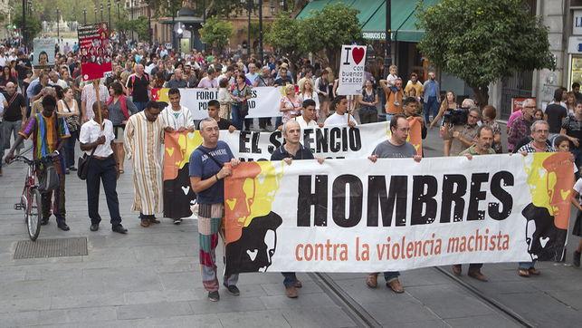 hombres por la igualdad en la calle, en Sevilla (2012)