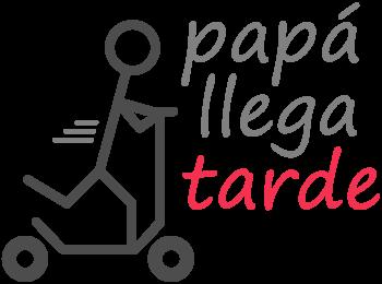 Logo de Papá llega tarde
