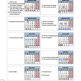 calendario escolar sevilla 2016 2017 papanoara